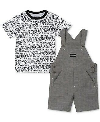 Calvin Klein Baby Boy chambray shortalls, 24 months - new with tags