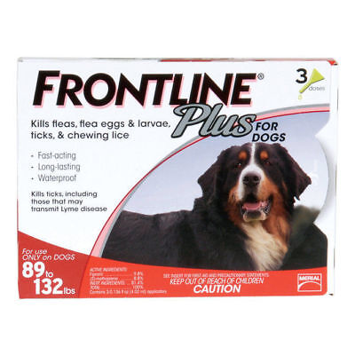 Merial Frontline Plus For Dogs 89-132lbs 3Month Supply