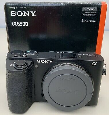 Sony Alpha A6500 Mirrorless Digital Camera - Black (Body Only) Immaculate