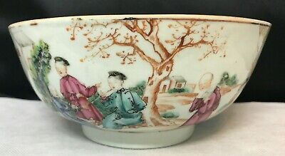 """BEAUTIFUL ANTIQUE QIANLONG QING Dynasty CHINESE FOOTED 8"""" BOWL, 乾隆  / 清朝"""