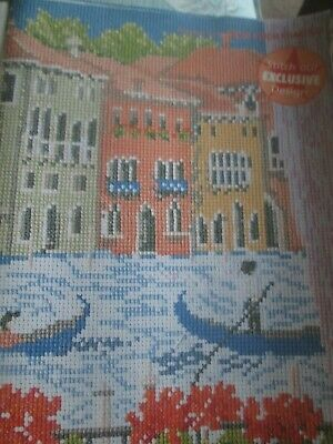 'Vibrant Colours Of Venice' Cross Stitch chart (Only)