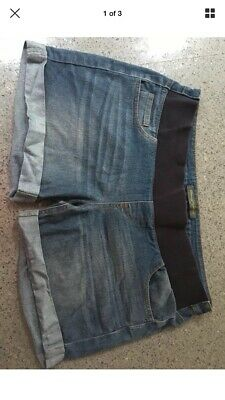 Size 14 Mothercare Blooming Marvellous Denim Maternity Shorts
