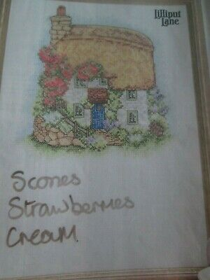 'Country Cottage & Cream Teas' Cross Stitch chart (Only)