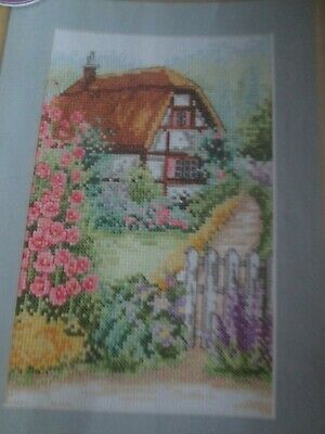 'Hollyhock Cottage' Cross Stitch chart (Only)