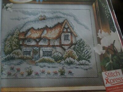 'Winter Cottage' Cross Stitch chart (Only)