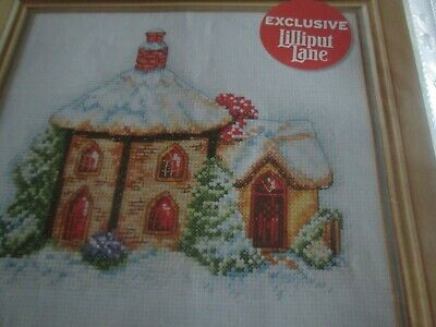 'Cosy Winter Cottage' Cross Stitch chart (Only)