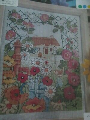 'Summer At Poppy Cottage' Cross Stitch chart (Only)