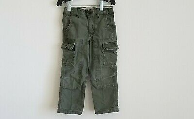 Baby Gap Toddler Boys Cargo Pants Green Sz 4 Year Adjustable Waist