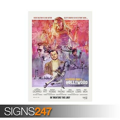 ONCE UPON A TIME IN HOLLYWOOD (ZZ070) MOVIE POSTER Poster Print Art A1 A2 A3