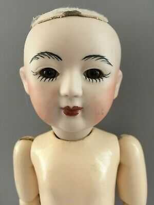 Asian Ball Joint Vintage Repro Handmade Antique Doll 34Cm Timber Wood Bisque