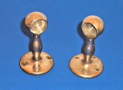 J.L. Mott Cast Iron Works NY Pair Towel or Toilet Paper Holder Chrome Plated