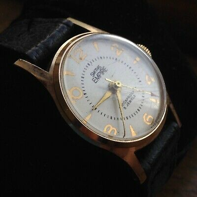 Rare Vintage Man's Swiss Made Mid Size 1950s 28mm SMITHS EMPIRE Watch - WORKING