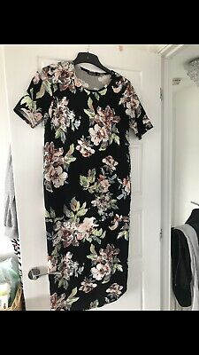 Floral Maternity Dress Size 14 Boohoo