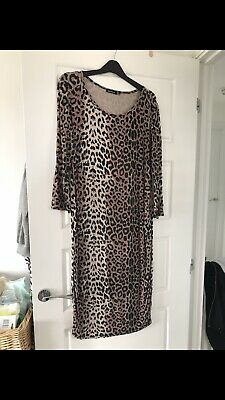 Leopard Print Maternity Dress Size 12 Boohoo