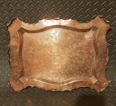 Arts & Crafts Townshend & Co Acanthus Copper Tray 1895