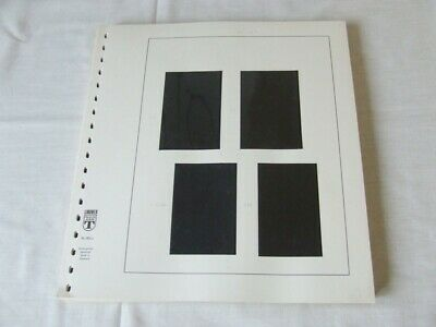 45x LINDNER FALZLOS Nr 802a 18 RING STAMP ALBUM PAGES WITH BLACK MOUNTS