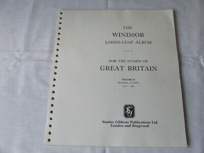 Stanley Gibbons Windsor Definitive Great Britain Stamp Album Pages 1970-72