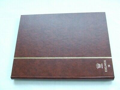 IMPORTA A4 16 WHITE PAGES (32 sides) BROWN STAMP STOCKBOOK, EXCELLENT CONDITION