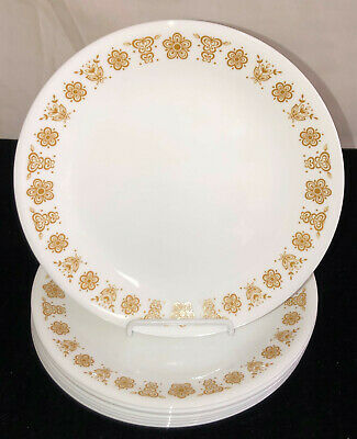 """8 Corelle BUTTERFLY GOLD * 8 1/2"""" LUNCHEON PLATES *"""