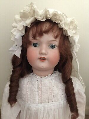 Armand Marseille Antique German Bisque Doll. 28 Inches Tall.