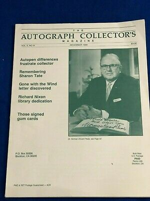 Rare, The Autograph Collector's Magazine December 1990, Sharon Tate,GWTW