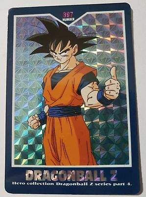 Carte Dragon Ball Z DBZ Hero Collection Part 4 #401 Prisme 1995 MADE IN JAPAN