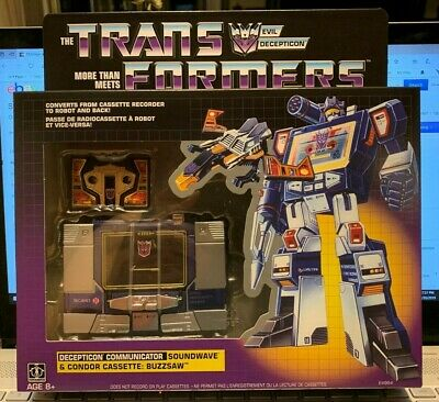 New Transformers Soundwave G1 Walmart Exclusive Reissue Buzzsaw Cassette MISB