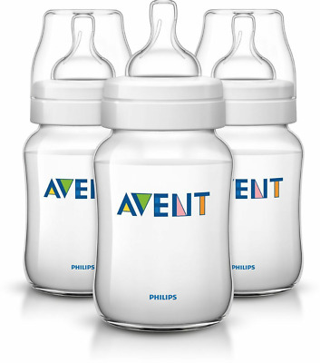 Sale New Avent Classic Anti-Colic Feeding Bottle 260Ml 3 Pack