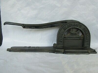 Antique 1886 Cast Iron Penn Hardware CO. Tobacco Leaf Cutter, Great Condition
