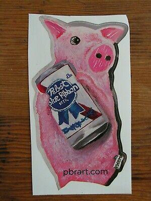 Pabst Blue Ribbon Beer Die Cut Sticker ~NEW! Craft Brewing Logo Brewery Decal~