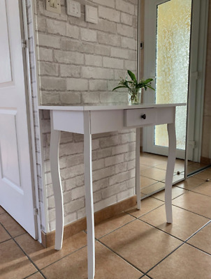 French Console Table Shabby Chic Dressing Small Hallway Furniture Storage Drawer