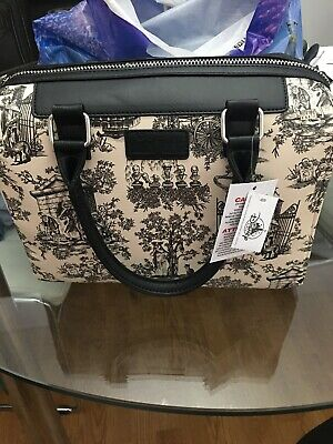 NWT Disney Parks Haunted Mansion Toile Satchel Hitchhiking Ghosts Purse Bag