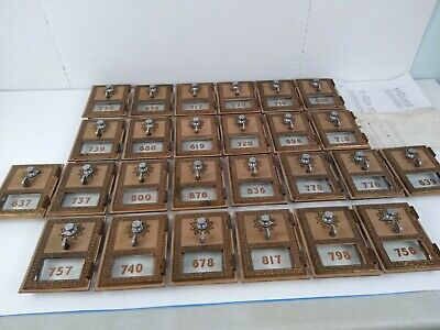 Huge Estate Lot of Vintage 1956 P.O. BOX Doors Combination Locks Brass ~SEE~