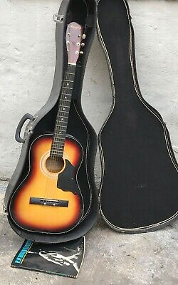 Harmony H0401P Beginner 6 String Acoustic Guitar with Carrying Case & Book