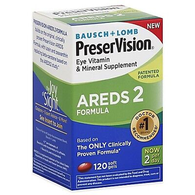 PreserVision Areds 2 120 ( pack of 2) TOTAL 240 COUNT FREE SHIPPING