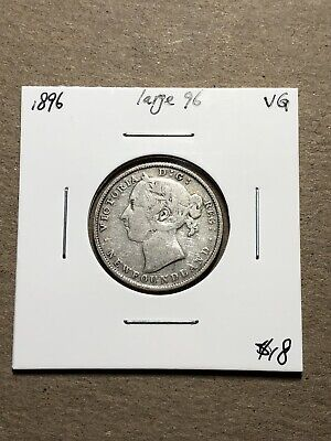 Newfoundland 1896 Large 96 Silver 20 Cents #A49
