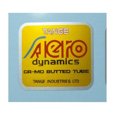 Tange Double Butted Tubing VINTAGE NOS BICYCLE FRAME TUBING DECAL rare ORANGE