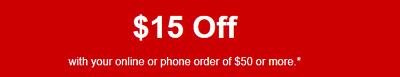 Staples Coupon $15 off $50 online/phone order (reg price) - Expires 8-25-2019