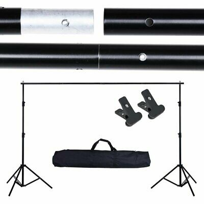 Photography Background Support Stand 10ft Adjustable Photo Studio Backdrop w/Bag