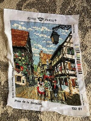 Royal Paris finished tapestry France Alsace Colmar près de la Fontaine dirndl