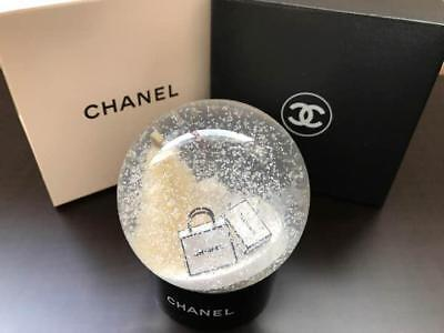 CHANEL Snow Globe White Christmas Tree VIP Customer Limited Benefit Novelty Used