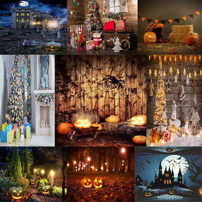 Phoyography Backdrop Halloween Brick Wall Xmas Flower Phoyo Background Props NY