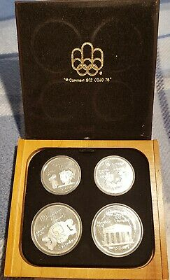 1976 CANADA Montreal Olympics DELUXE PROOF 4 Silver Coin Set w/Case SERIES#2