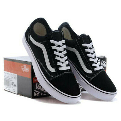 Vans Old Skool Black White Skate Shoes - Unisex for Men and Women Trainers Shoes