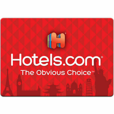 $500 Hotels.com Gift Card Hotel Lodging Travel