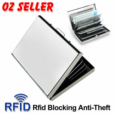 2019 Deluxe Wallet ID Credit Card Holder Anti RFID Blocking Stainless Steel Case