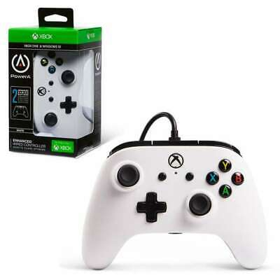 White PowerA Enhanced Wired Controller for Xbox One