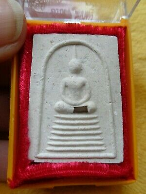 Old  Thai Buddha Cased Amulet /  Tacrut Charm Original Temple Case