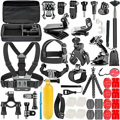 58Pcs Action Camera Accessories For GoPro Hero Video Cam Strap Mount Tripod Set