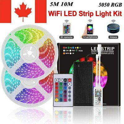 10M 5M LED Strip Light Full Kit Smart WIFI RGB tape lamp Waterproof Alexa Google